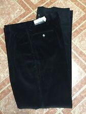 $99.50 Jos A Bank Windsor Executive pleated front corduroy Black Pants 37 W x 36