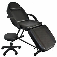 Salon Tattoo Adjustable Massage Bed Facial Beauty Barber Chair Equipment Black