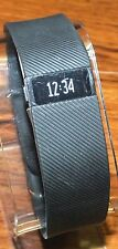 Genuine Fitbit Charge Black Wireless Activity Tracker Wristband (Size LG) *READ*