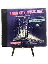 """RADIO CITY MUSIC HALL Erno Rapee 10"""" 78rpm 5-Record Book Set Decca DA-437 EX+"""