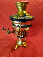 Vintage Soviet Electric Samovar Teapot Hand Painted Khokhloma USSR 1989