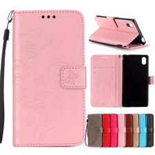 Flip Wallet Leather Magnetic Card Stand Case Cover For HTC / Sony Xperia Phone