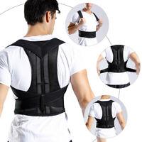 Adjustable Back Posture Correction Shoulder Corrector Support Brace Belt Unisex