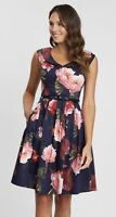 Review Sz 16 Mystic Floral Dress Pockets Midnight/Multi Brand New w Tags (BNWT)