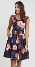 Review Sz 16 Mystic Floral Dress Pockets Midnight/Multi Brand New w Tags (BNWT)