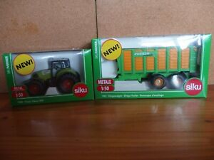 Siku Diecast Claas Axion 850 Tractor & Silage Trailer 1:50 Discontinued lines