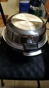 """11"""" Lifetime Electric skillet 900 watts. High Domed 3.5 in  lid Stainless Works!"""