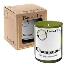 Champagne Scented Green Glass Bottle Candle 50 Hours Burn Time H10 X W7.5cm