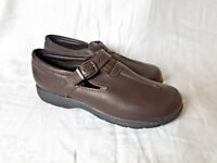 Dexter WalkMocs Comfort Flats Size 10M Dark Brown Leather Buckled Made in USA