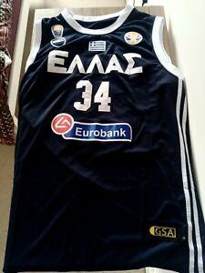 Giannis Antetokounmpo Jersey Greece Greek FIBA Basketball NBA XL Vest Bucks