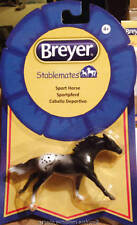 Breyer Horse Models Stablemate Black Appaloosa Sporthorse