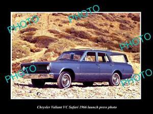 OLD 8x6 HISTORIC PHOTO OF 1966 CHRYSLER VC VALIANT SAFARI LAUNCH PRESS PHOTO