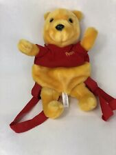 "Walt Disney Vintage 1996 Winnie Pooh Plush Bear Backpack Collectible 12"" Tall"