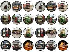 24 Trams classic tramway bun fairy cupcake toppers birthdays party edible paper