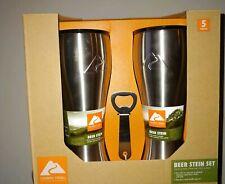 New in bix Ozark Trail 20 oz Stainless Steel Beer Steins Set