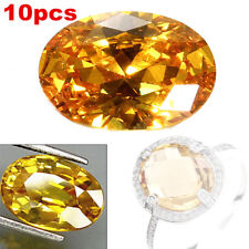 10pcs 10x14mm Gem Oval Shape Yellow Sapphire Natural Loose GEMSTONE Jewelry Gift