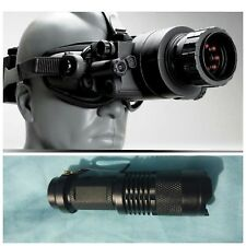 Night Vision Goggles & High Power IR Flashlight PAIR X 2 SETS - IR SEE 500'+-