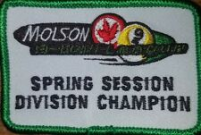 APA MOLSON 9 BALL SPRING DIVISION CHAMPION PATCH PATCHES AMERICAN POOLPLAYERS
