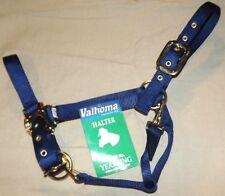 "New VALHOMA Nylon Halter 1"" Yearling 300-500 lbs Adjustable Chin/Throat latch"