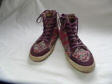 GOLA QUOTA WOMENS HIGH TOP CASUAL FLORAL SUEDE TIP SNEAKERS US 8