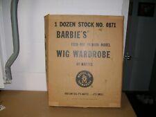 Vintage Mattel Barbie Wig Wardrobe orginal cardboard shipper box VERY RARE 1963!