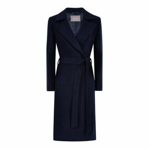 BNWT Jaeger Size Navy Ladies Wool Wrap Coat Size 14