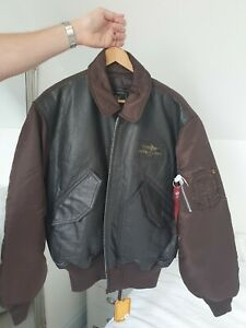 Genuine Rare Mens Breitling Leather Bomber Jacket Size L BNWT