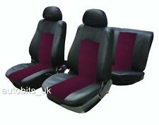 FULL SEAT COVERS SET PROTECTORS RED BLACK FOR VW JETTA GOLF MK3 MK4 MK5 MK6