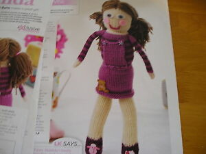 KNITTING PATTERN FOR DOLL TOY.