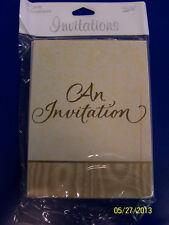Gold Splendor 50th Anniversary Wedding Shower Party Invitations w/Envelopes *