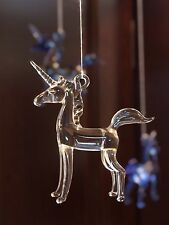 Once Upon A Time Snow White Glass Unicorn Ornament (transparent) DIY mobile