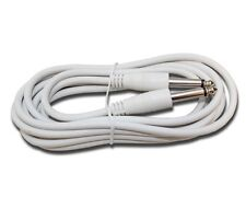 10 ft foot WHITE 1/4 mono guitar to effects pedal instrument PA patch cable cord