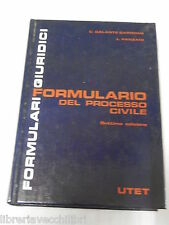 FORMULARIO DEL PROCESSO CIVILE C Galante Garrone L Panzani Utet 1992 Diritto di