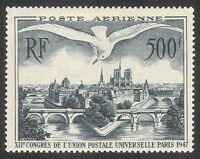France 1947 UPU Congress/Gull/Birds/Buildings/Bridges/Mail 1v airmail (n40609)