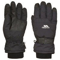 Trespass Gohan II Warm Kids Ski Gloves Winter Black Childrens Skiing Gloves