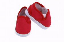 Red Canvas Slip On Shoes For 14.5 Wellie Wishers American Girl or Boy Doll