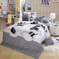 Mickey Mouse Duvet Cover Set Twin/Full/Queen/King Size Bedding Set Pillowcase