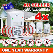 4X RIDDEX Plus Pest Repeller Ultrasonic Electronic Rat Mosquito Rodent Control
