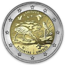 2 EURO 2021 LITUANIA COMMEMORATIVO UNESCO BIOSFERA ZUVINTAS FDC  UNC DA ROLLS