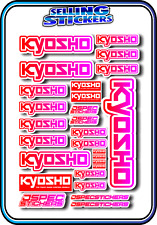 KYOSHO MODEL RC CAR DRONE BOAT BUGGY MINI Z STICKERS DECALS ROBOT R/C RED/PNK W