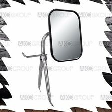 Universal Chrome Low Mount Reversible Side Mirror For GM Ford Chrysler Truck Van