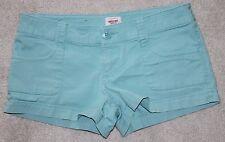 Mossimo Women's Shorts Jr Size 3 Fit 6 Lower Waist & Straight Hip Light Blue EUC