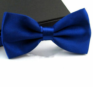 New Tuxedo PreTied Royal Blue Bow Tie Satin Matching Adjustable Band  US SELLER