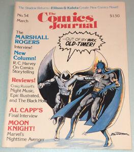 The Comics Journal 54 VF/NM 1980 Batman Moon Knight Bill Sienkiewicz Cover