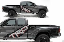Vinyl Decal Side T RACE Wrap Kit for Toyota Tacoma TRD 2005-12 Black Red Silver