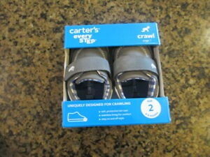 Carter's Finn blue Infant 2 Leather shoes Crawl stage 1 NIB 6 to 9 months