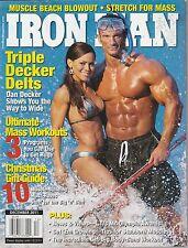 DEC 2011 IRON MAN vintage body building magazine DAN DECKER