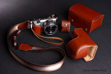 Real Leather Camera Case and 4 accessories for Sony NEX5T NEX5R(a set of five)