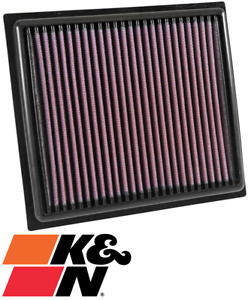 K&N REPLACEMENT AIR FILTER FOR JEEP RENEGADE BU MULTIJET.II EAM TURBO 1.4L I4
