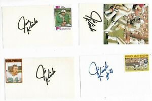 (1) Jim Kiick Signed 3x5 Index Card 1972 Miami Dolphins d. 2020
